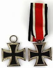 WWII GERMAN IRON CROSS 2nd CLASS LOT OF 2