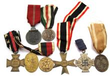 WWII GERMAN MEDAL LOT OF 8
