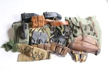 LARGE LOT POUCHES FIELD GEAR TELEPHONES