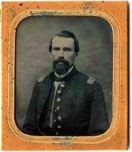USS MONITOR CASED AMBROTYPE OF A UNION CAPTAIN
