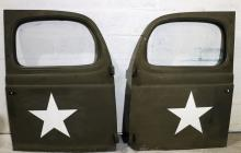 WWII US ARMY AMBULANCE DOORS LOT OF 2