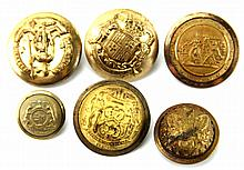 CIVIL WAR ERA BUTTON LOT OF 6