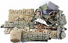 MIXED MILITARIA & WEB GEAR LOT