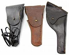 THREE MILIARY HOLSTERS CAVALRY & M1916