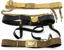 US INDIAN WARS ERA SWORD BELT LOT OF 3