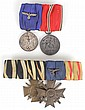 PAIR OF WWII GERMAN NAZI OFFICER RIBBON BARS