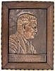JAMES FRAZER FRAMED COPPER RELIEF T. ROOSEVELT