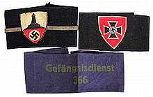 WWII GERMAN ARMBAND LOT OF THREE