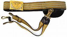 1884 US CAVALRY BELT, BUCKLE, & SWORD HARNESS