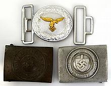 WWI GERMAN BELT BUCKLE LOT OF THREE