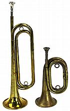 WWI US CAVALRY BUGLE LOT OF TWO