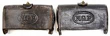 TWO INDIAN WARS NGP MCKEEVER 45-70 CARTRIDGE BOXES