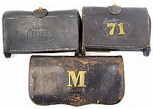 3 INDIAN WARS CARTRIDGE BOXES