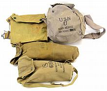 US GAS MASK LOT OF FOUR
