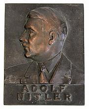 WWII GERMAN ADOLF HITLER PLAQUE
