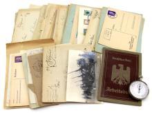 WWII GERMAN LOT ENVELOPES STOPWATCH WORKBOOK