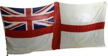 Genuine British Flag: White Ensign Flag or the St George's Engsign used by the Royal Navy in World War II