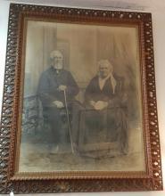 Antique J H Kent Original Portrait c1884 In Charcoal 60x48