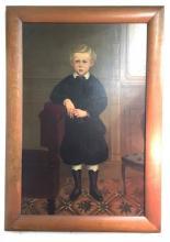 Antique Circa 1876 Oil/Canvas 48x36