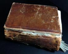 Antique Hebrew/English Bible Circa 1910 Berlin 8.5x7x3