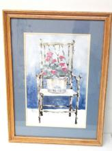 Vintage Framed & Signed Watercolor Painting by American Artist