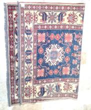 Fine Caucasian Kazak Rug Colorful with Scorpion & Floral Combination Design