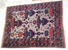 Antique Circa 1920 Turkaman Rug with Flowery Design (Origin Afghanistan)