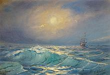 IMPORTANT RUSSIAN PAINTING BY IVAN K. AIVAZOVSKY
