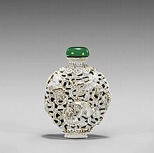 RETICULATED PORCELAIN SNUFF BOTTLE