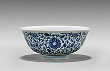 YONGZHENG-STYLE BLUE & WHITE PORCELAIN BOWL