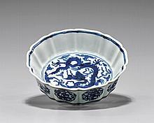 MING-STYLE BLUE & WHITE BRUSHWASHER