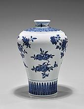 QIANLONG-STYLE BLUE & WHITE MEIPING