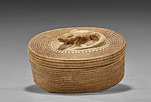 Indonesian Woven Covered Basket