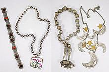 Four Various Silver Necklaces