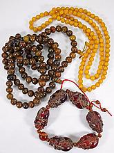 Three Various Bead Necklaces