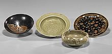 Four Early Style Chinese Ceramic Dishes