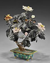 Chinese Flowering Hardstone Tree