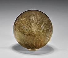 RUTILATED SMOKY QUARTZ SPHERE