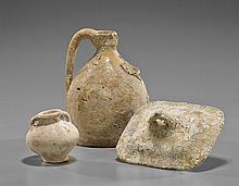 Three Excavated Porcelain Vessels