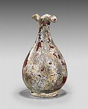 Unusual Chinese Flambé Glazed Vase