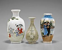 Three Small Asian Porcelain Vases