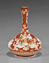 Japanese Kutani Porcelain Bottle Vase