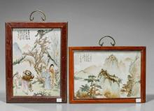 Two Chinese Enameled Porcelain Plaques
