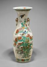 Large Japanese Enameled Porcelain Vase