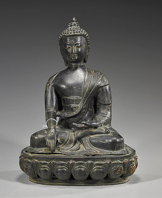 Probably Nepalese Seated Bronze Deity