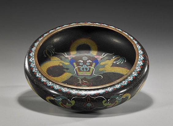 Large Chinese Cloisonné Enamel Bowl