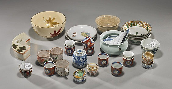 Group of Various Japanese Dishware