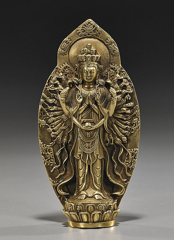 Sino-Tibetan Gilt Bronze Buddhist Deity