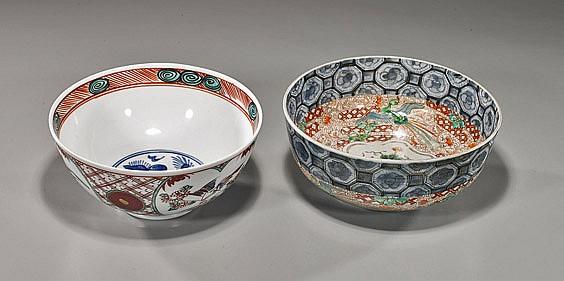 Two Old Imari Porcelain Bowls