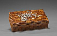 Chinese Mother-of-Pearl Inlaid Wood Box